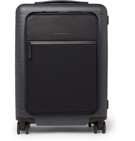 Horizn Studios | Horizn Studios - Model M 55cm Polycarbonate, Nylon And Leather Carry-on Suitcase - Navy | Clouty