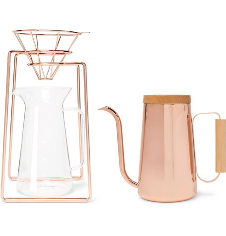 Toast Living | Toast Living - H.a.n.d Copper-tone Coffee Set, 800ml - | Clouty