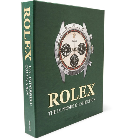 Assouline   Assouline - Rolex: The Impossible Collection Hardcover Book - Green   Clouty