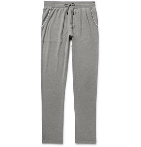 Loro Piana | Loro Piana - Slim-fit Cotton And Cashmere-blend Sweatpants - Gray | Clouty