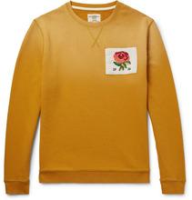 Фото Appliqued Degrade Loopback Cotton-jersey Sweatshirt