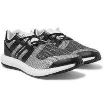 Фото Y-3 - Pure Boost Rubber-trimmed Primeknit Sneakers - Gray