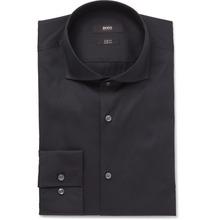 Hugo Boss - Blue Jason Slim-fit Cutaway-collar Stretch Cotton-blend Shirt - Midnight blue