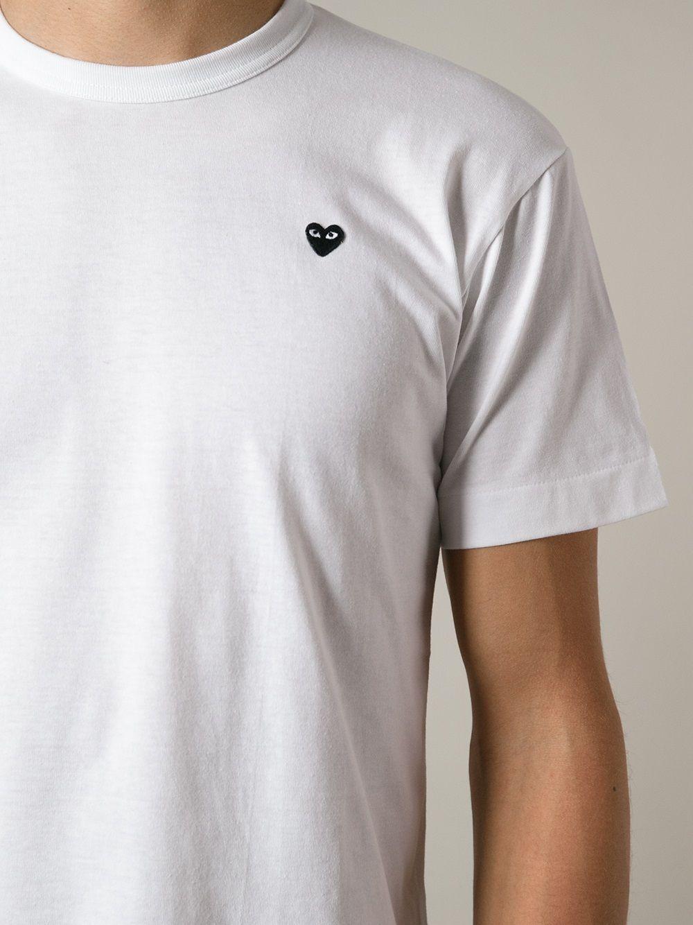 Comme Des Garçons Play | Comme Des Garcons Play футболка с маленьким сердцем | Clouty