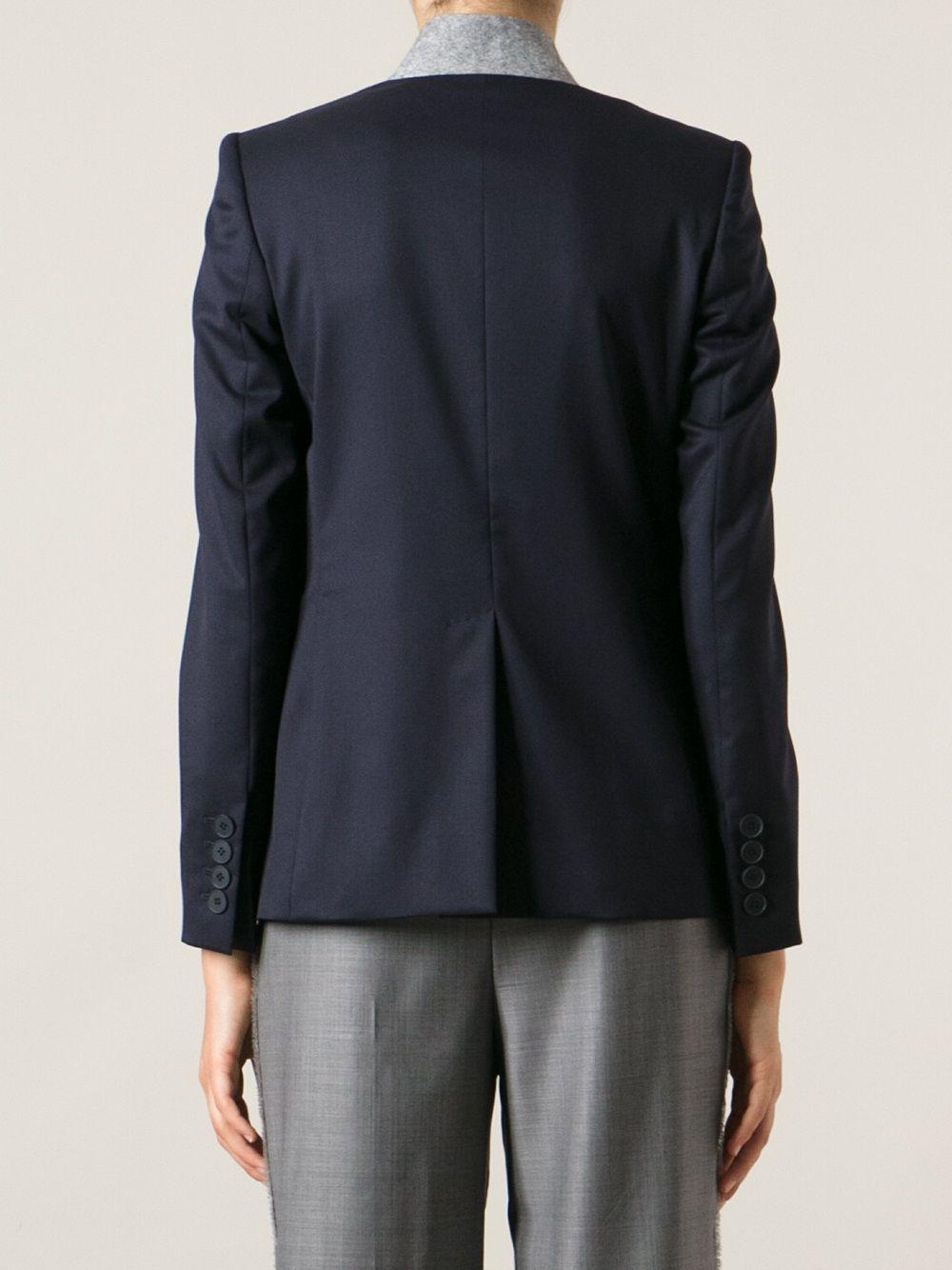 Stella McCartney | пиджак с контрастным воротничком | Clouty