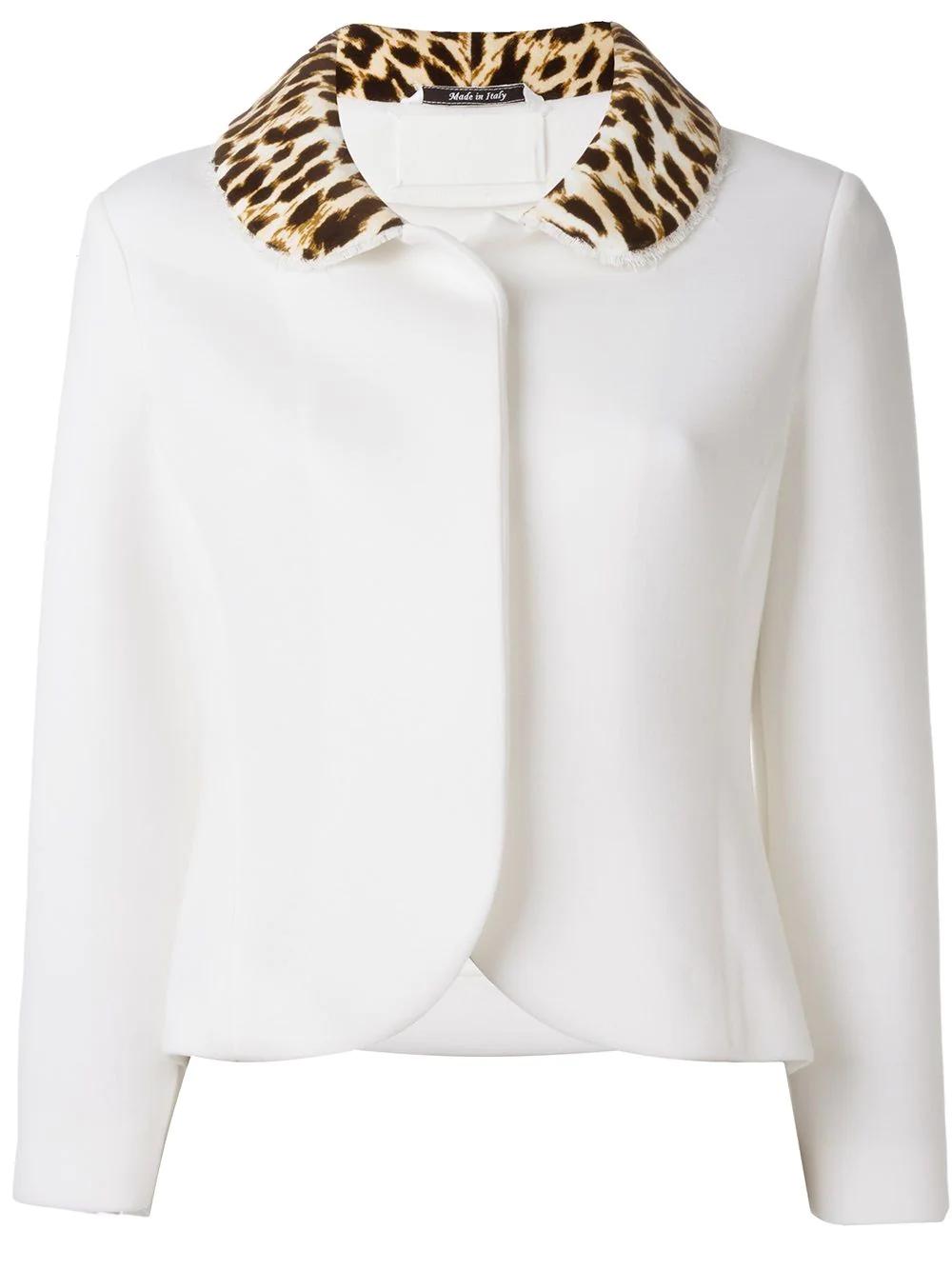 Maison Margiela | пиджак с леопардовым воротником | Clouty