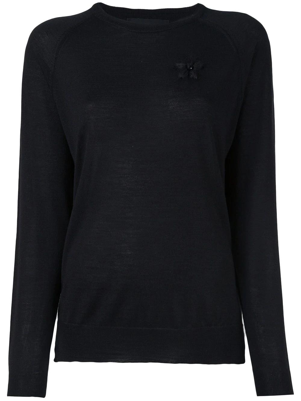 SIMONE ROCHA | свитер с вышивкой | Clouty