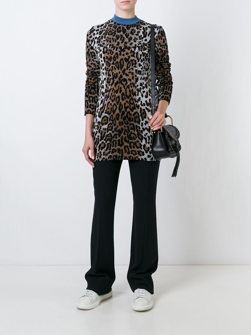 Stella McCartney | джемпер с круглым вырезом с животным принтом | Clouty