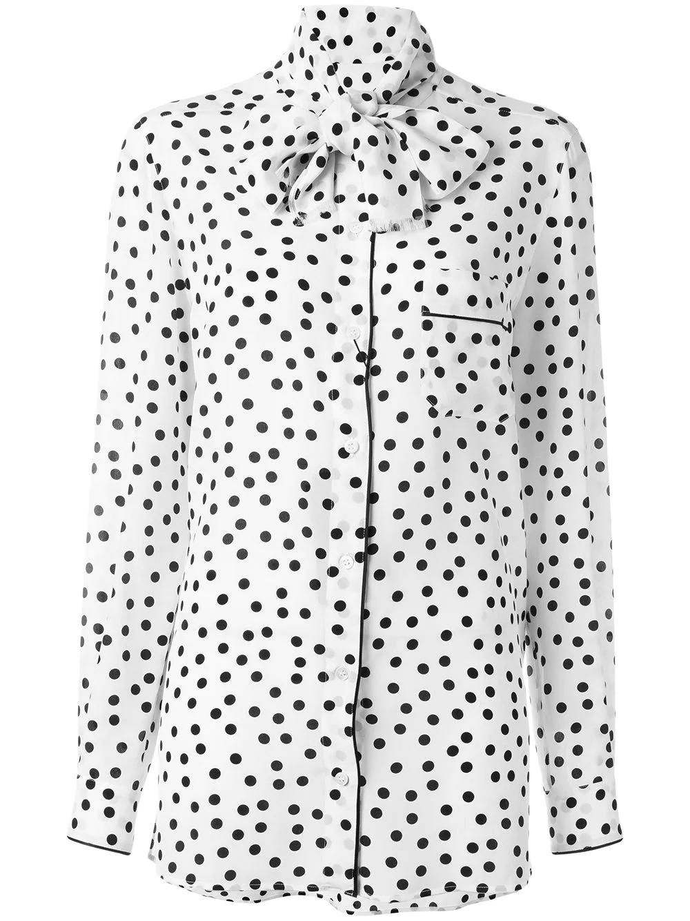 Dolce & Gabbana | блузка в горох | Clouty