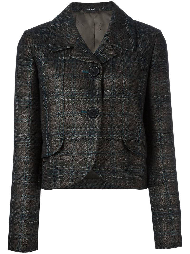 Maison Margiela | укороченный пиджак в клетку | Clouty