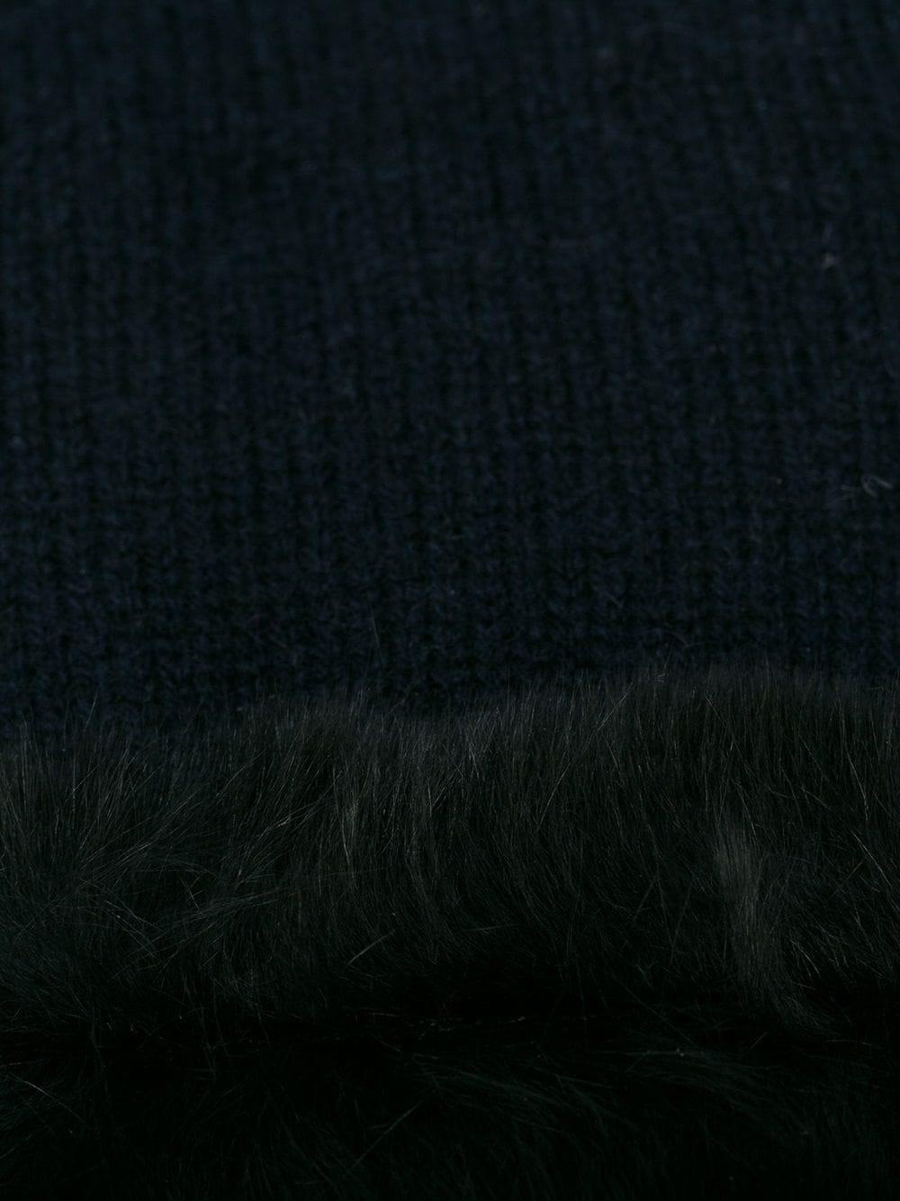 N.Peal | N.Peal перчатки с отделкой из кроличьего меха | Clouty