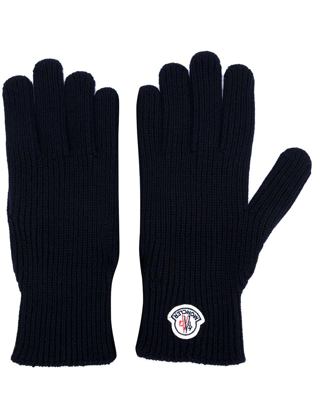 MONCLER | перчатки с логотипом | Clouty