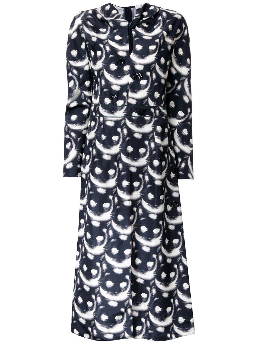NINA RICCI | платье с принтом 'cat' | Clouty