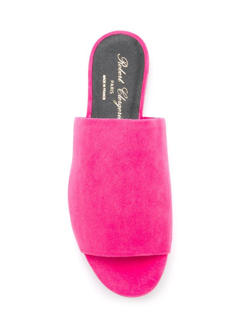 Robert Clergerie | Розовый и фиолетовый мюли 'Gigy' Robert Clergerie | Clouty
