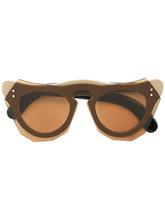 солнцезащитные очки геометрической формы Marni Eyewear