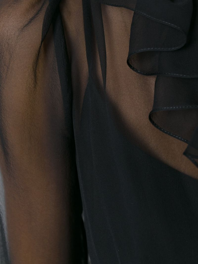 GIVENCHY | Чёрный платье с рюшами Givenchy | Clouty
