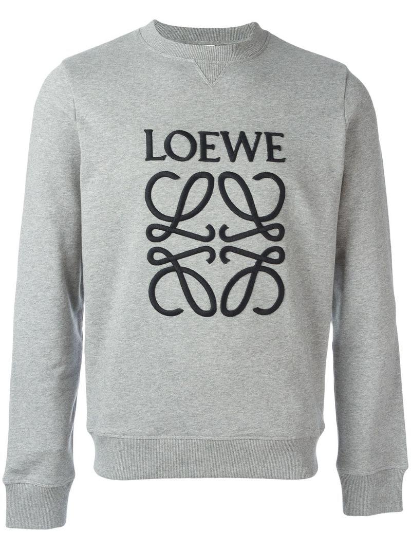 Loewe   Серый толстовка с вышитым логотипом Loewe   Clouty