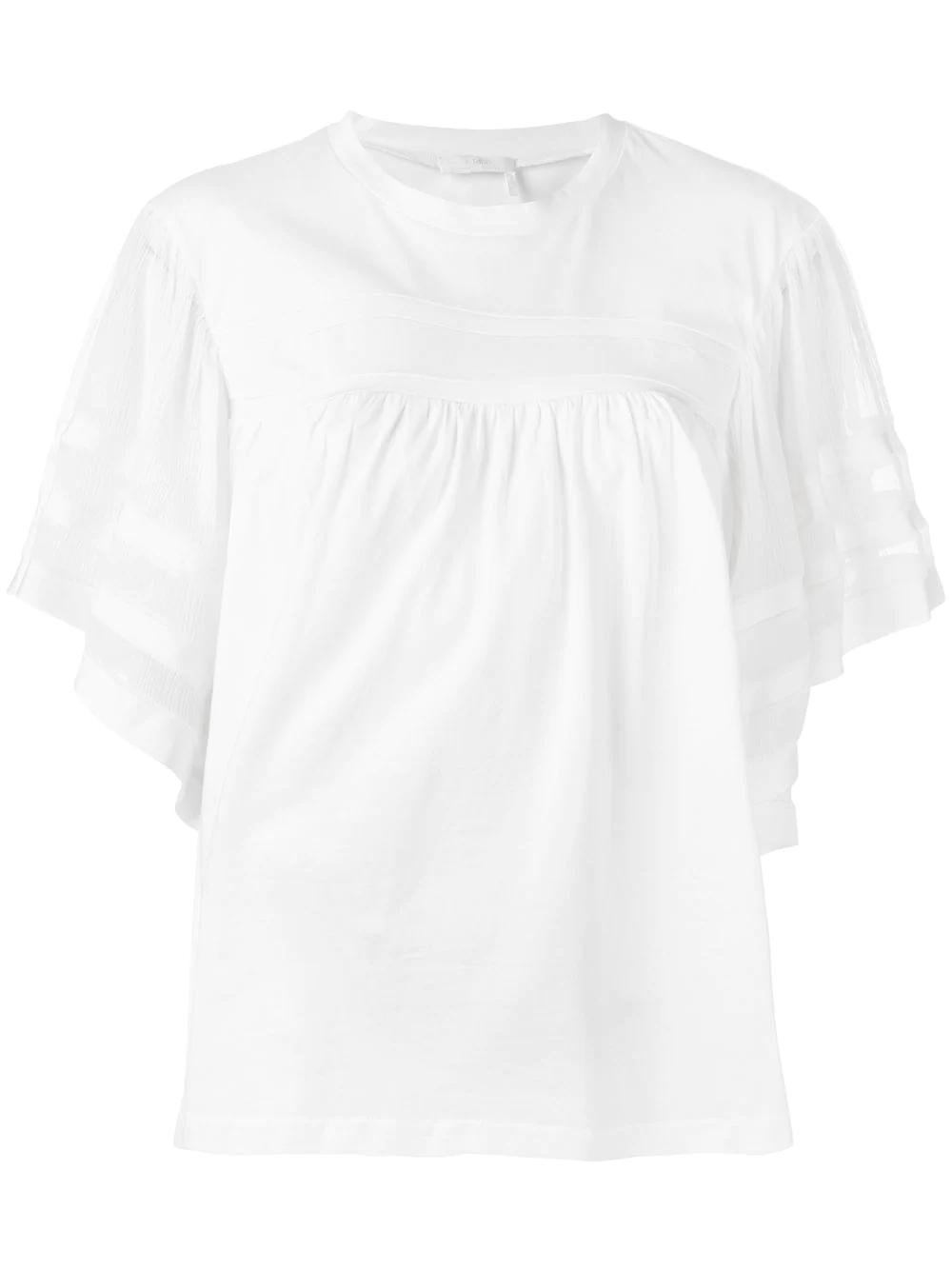 Chloé | блузка с полупрозрачными рукавами | Clouty