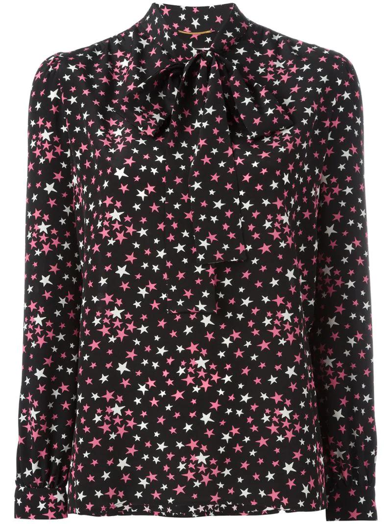 SAINT LAURENT   блузка с узором   Clouty