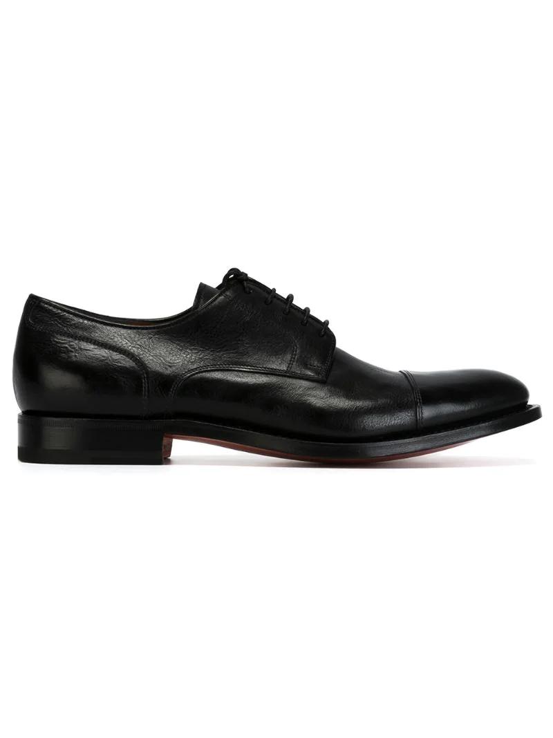 Santoni | классические туфли дерби | Clouty