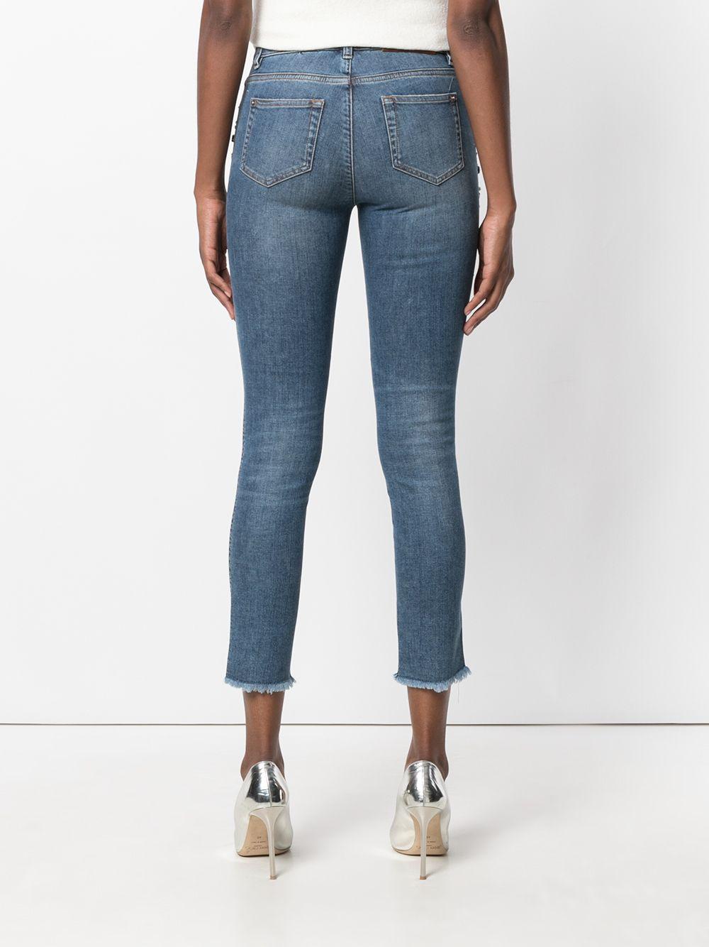 Ermanno Scervino | укороченные джинсы с вышивкой | Clouty