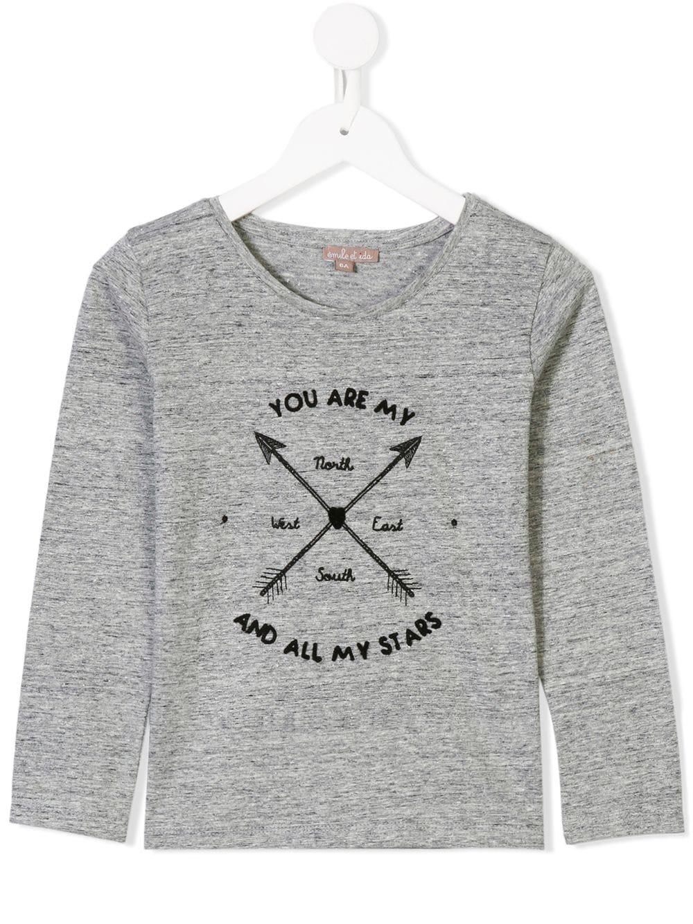 Emile Et Ida | Emile Et Ida футболка с длинными рукавами и принтом стрел | Clouty
