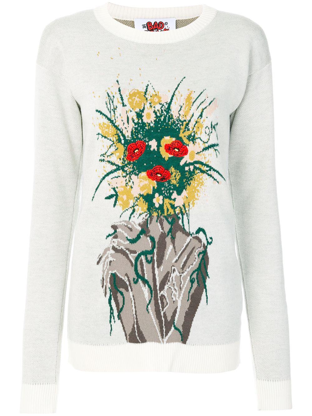 Bad Deal | джемпер с цветочным принтом-интарсией | Clouty