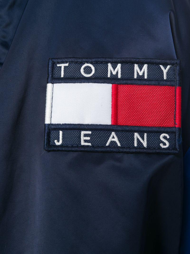 "Tommy Jeans   Синий бомбер дизайна ""колор-блок"" Tommy Jeans   Clouty"