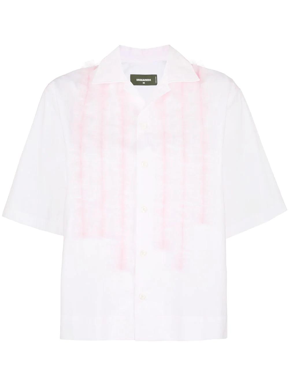 DSQUARED2 | укороченная рубашка с рюшами | Clouty
