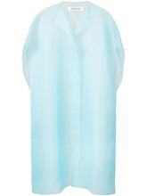 Фото удлиненный жилет из органзы с пуговицами-жемчужинами Kimhekim