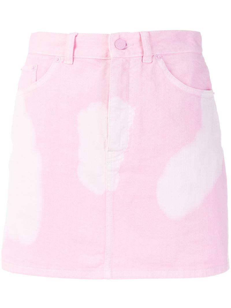 GIVENCHY | Розовый и фиолетовый приталенная юбка с принтом тай-дай  Givenchy | Clouty