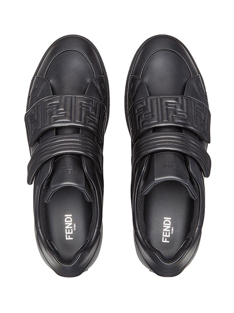 FENDI | Чёрный кроссовки на липучках Fendi | Clouty