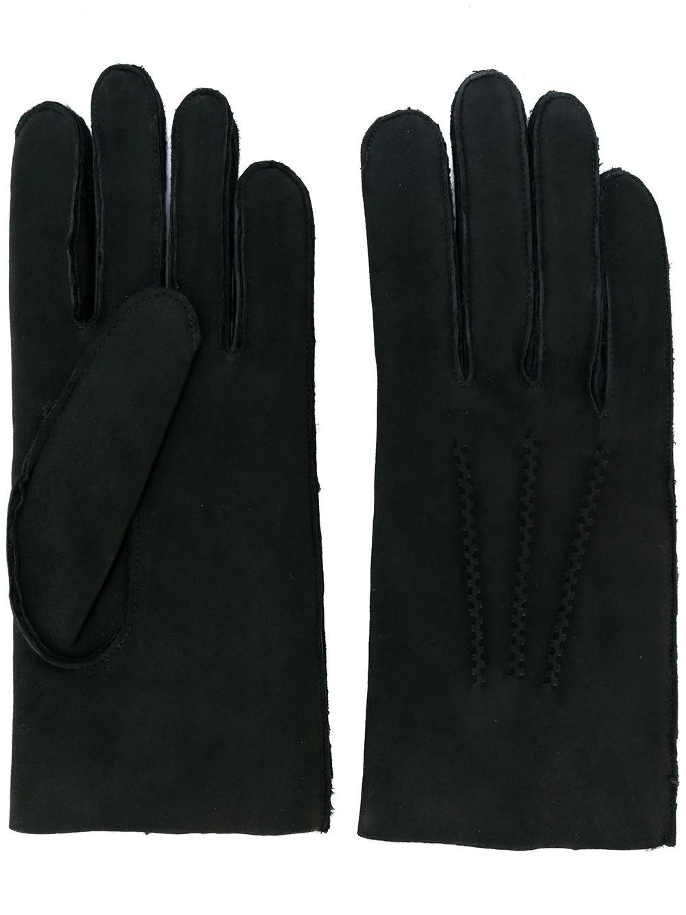 A.P.C. | перчатки со строчкой | Clouty