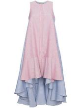 полосатое асимметричное платье миди  Jour/Ne
