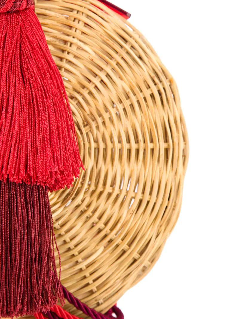 20a409130c24 ... WaiWai | Коричневый круглая плетеная сумка с кисточкой Wai Wai | Clouty  ...