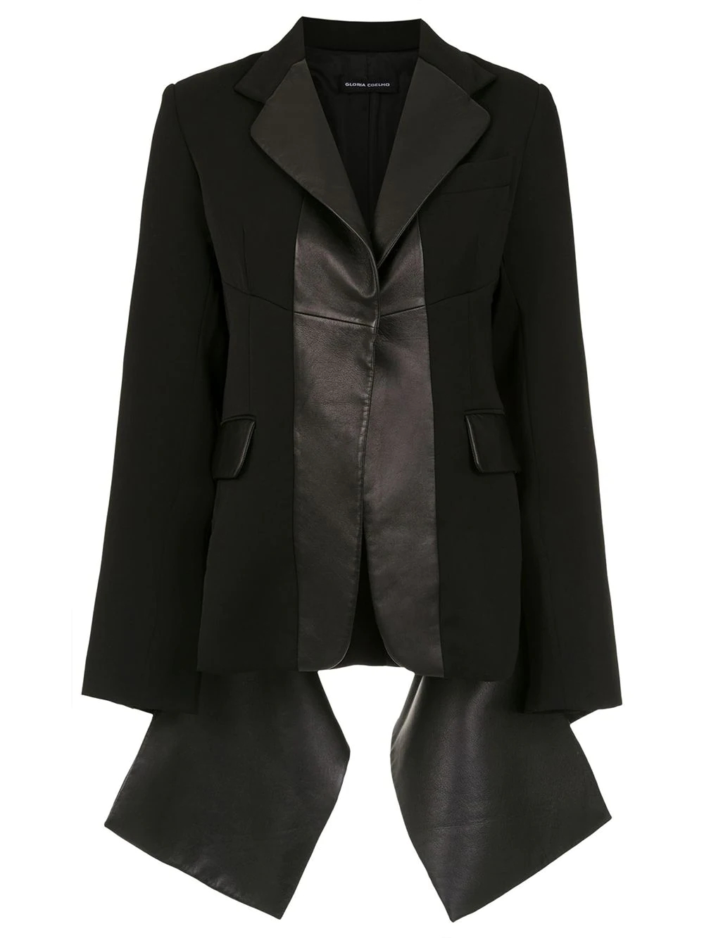 Gloria Coelho | leather panelled blazer | Clouty