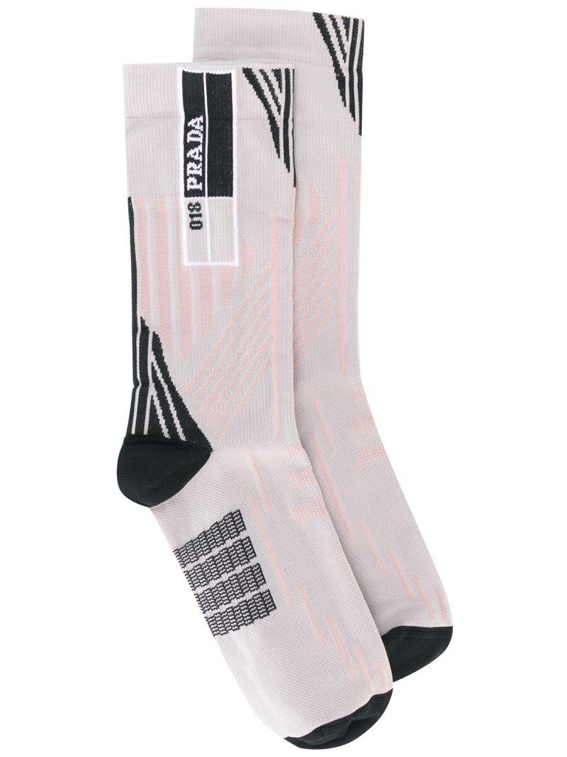 PRADA | Телесный носки с логотипом Prada | Clouty