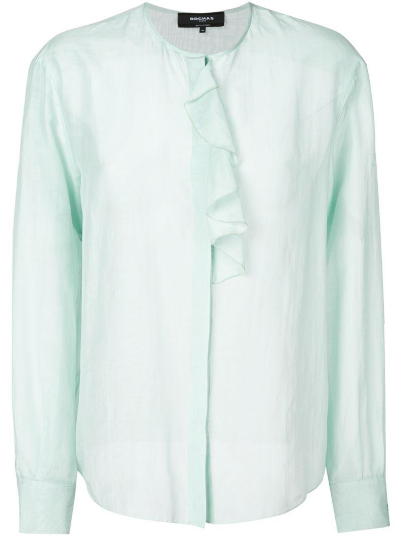 Rochas | блузка с рюшами | Clouty