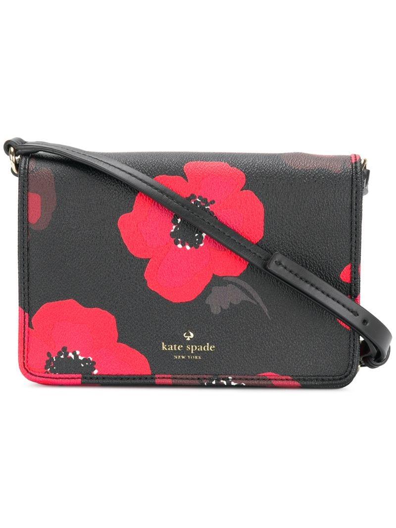 edb4288e9fd3 KATE SPADE | Чёрный сумка через плечо с цветочным принтом Kate Spade |  Clouty ...