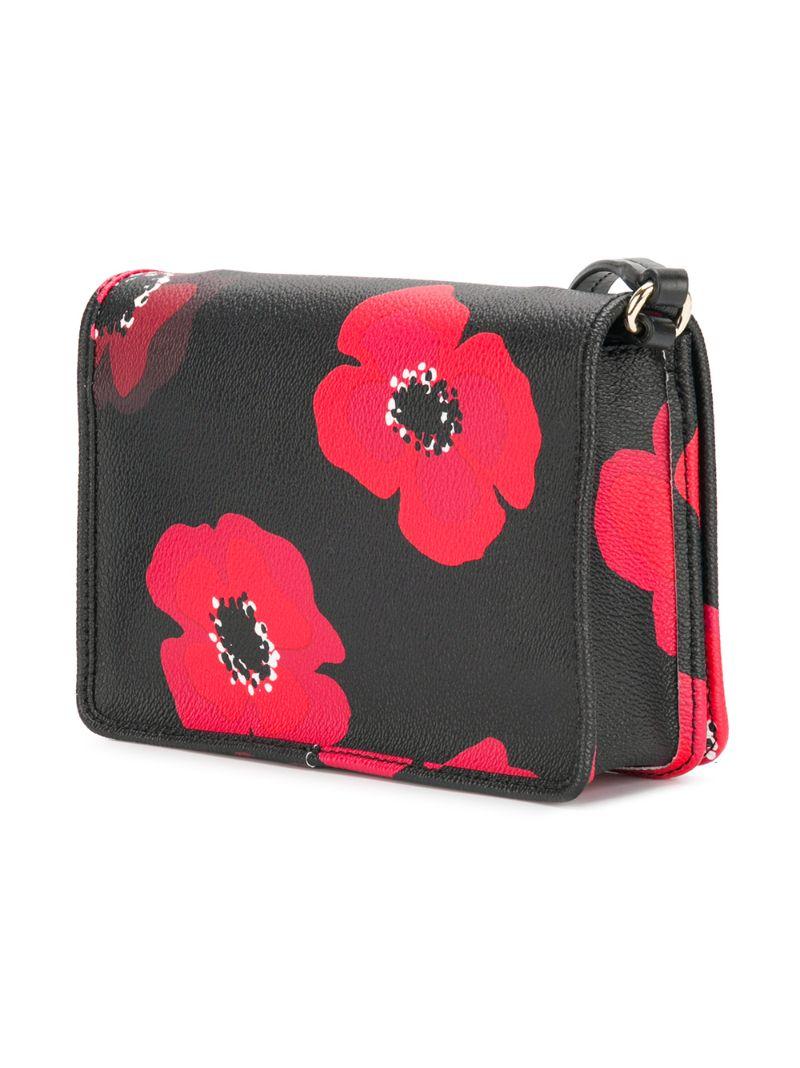 56fc0ebd99b4 ... KATE SPADE | Чёрный сумка через плечо с цветочным принтом Kate Spade |  Clouty ...