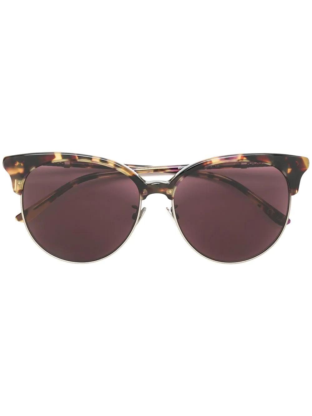 Bottega Veneta | солнцезащитные очки с узором черепашьего панциря | Clouty
