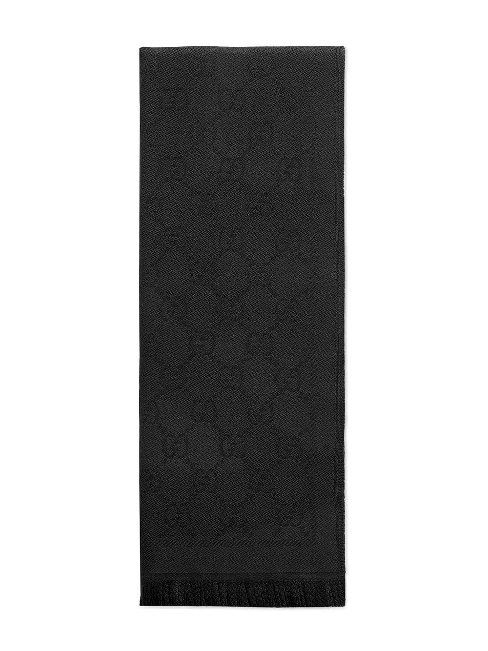 GUCCI | вязаный шарф с жаккардовым узором | Clouty