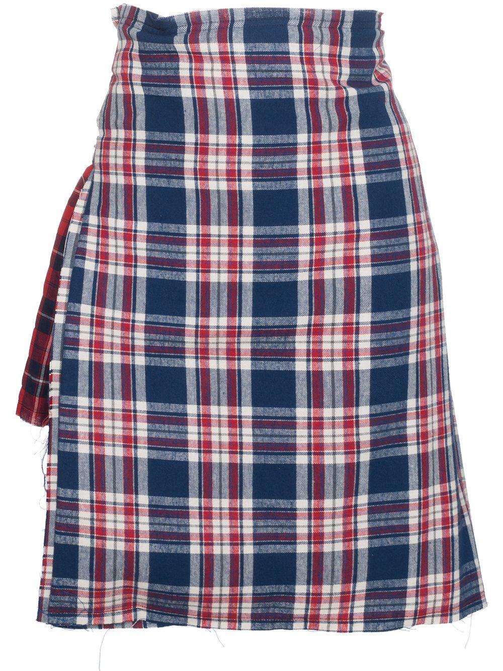 R13 | асимметричная юбка в клетку | Clouty