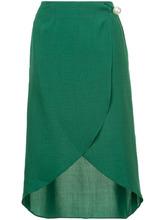 Фото юбка средней длины с запахом Kimhekim