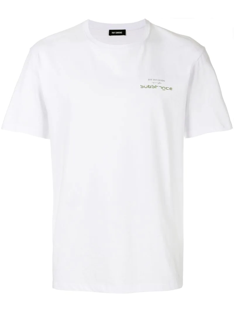 Raf Simons | Белый футболка 'Joy Davision' Raf Simons | Clouty