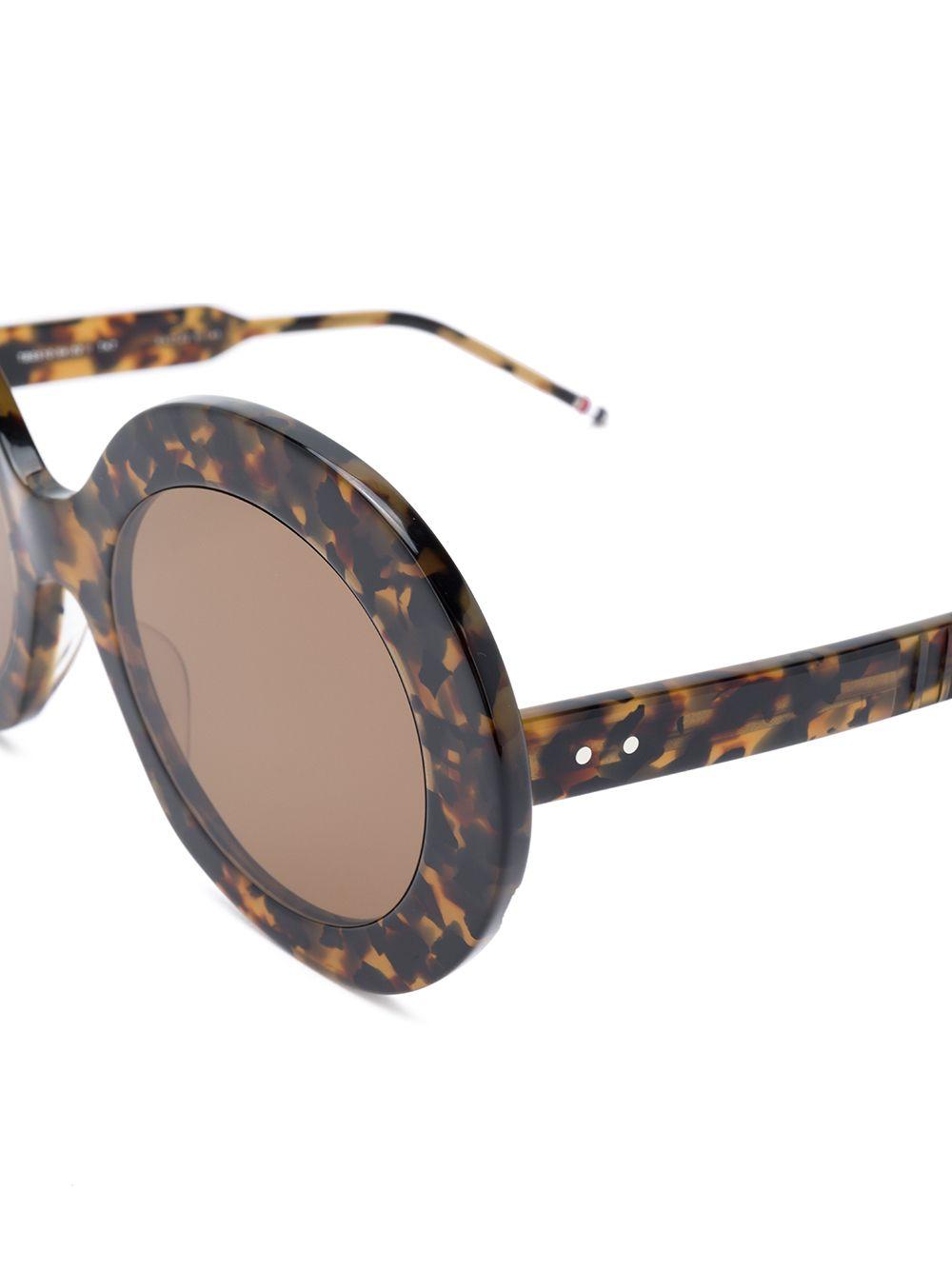 Thom Browne | солнцезащитные очки в круглой оправе | Clouty