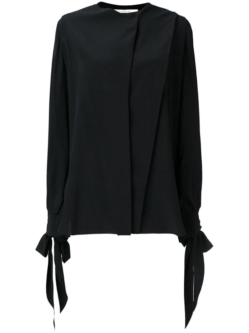 GIVENCHY | Чёрный расклешенная блузка Givenchy | Clouty