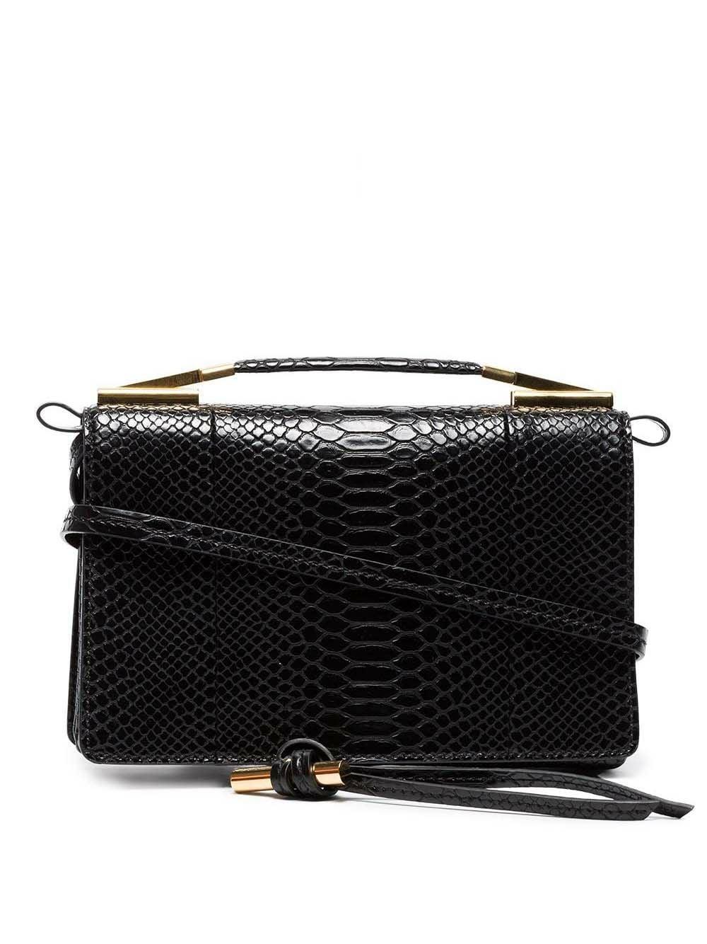 Stella McCartney   маленькая сумка с эффектом змеиной кожи   Clouty
