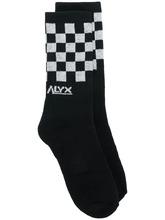 Фото носки с принтом в клетку Alyx
