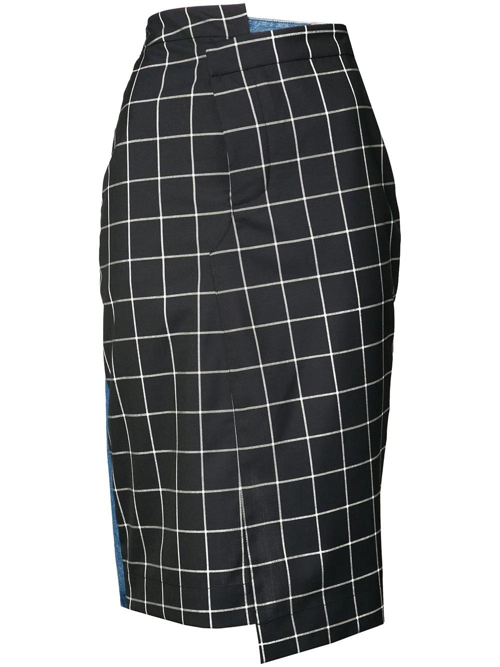 Monse | юбка-карандаш в клетку | Clouty